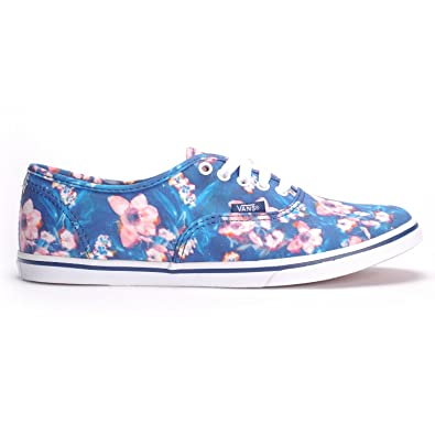 05bbd7a7a681f9 Vans Kid s Authentic Lo Pro Skateboarding Shoe (Blurred Floral) Poseidon  (11.5 Little Kid