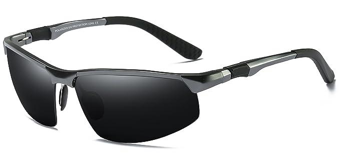 WHCREAT Gafas De Sol Polarizadas De Conducción Para Hombres Gafas De Deporte Al Aire Libre Marco Irrompible AL-MG - Pistola Marco Negra Lente 03: Amazon.es: ...
