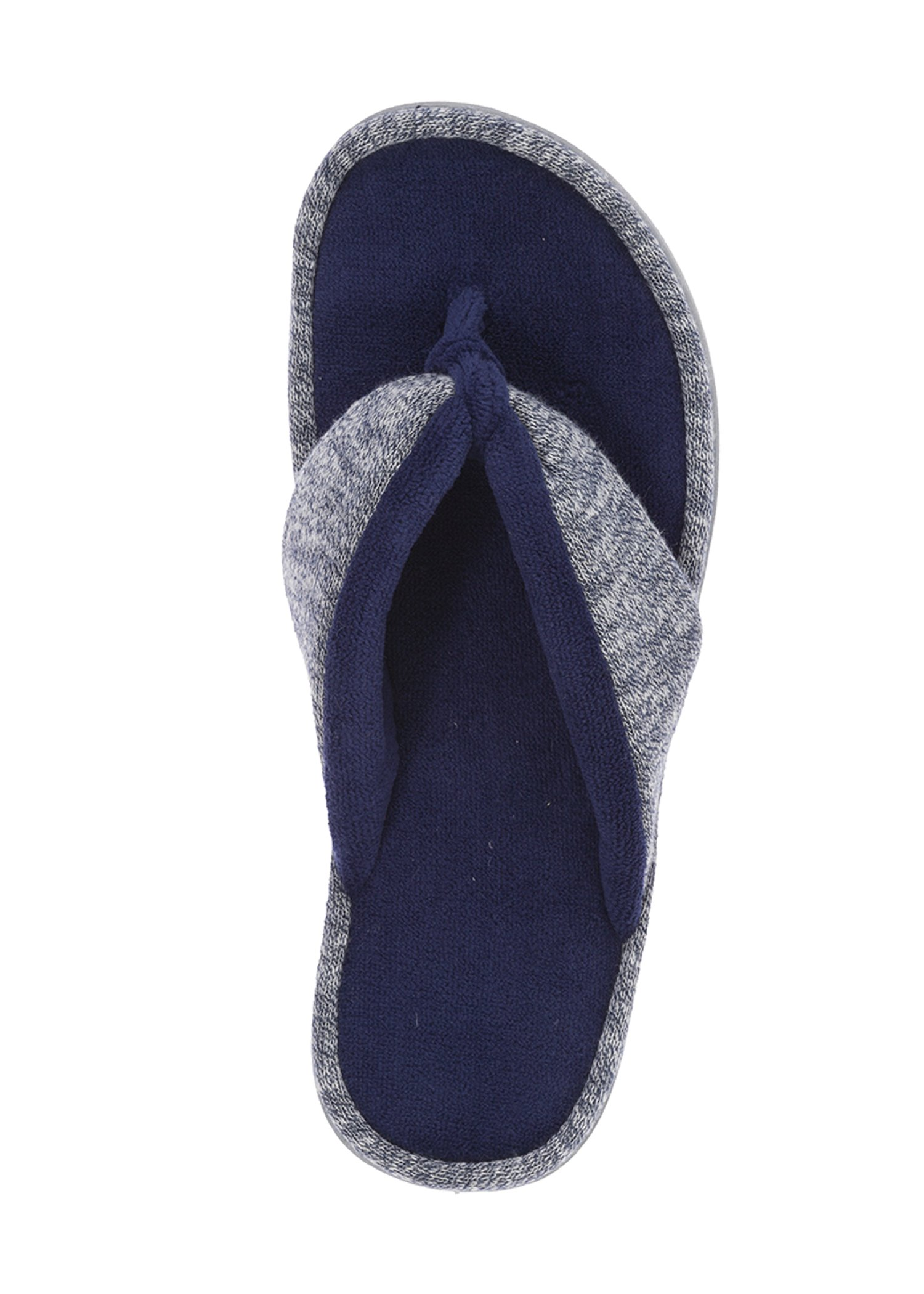 Dearfoams New Women's Thong Slippers (Style 40535) (Large, Peacoat)
