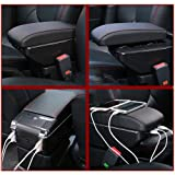 FLY5D Ford ECOSPORT Leather Arm Storage Box