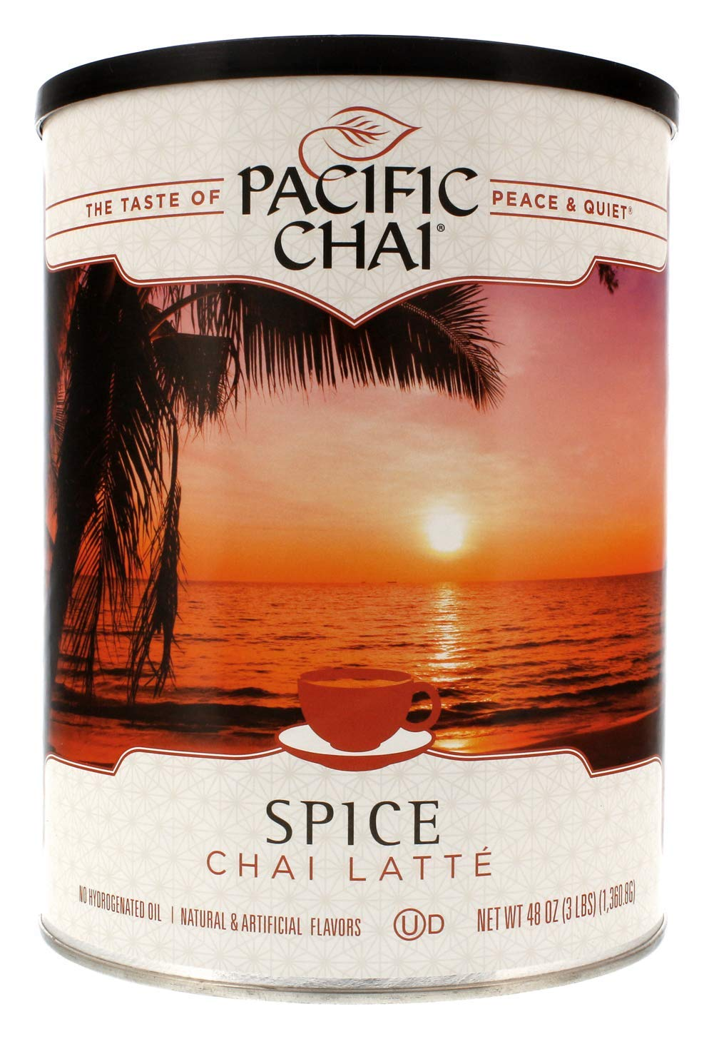 Pacifi Chai Spice Chai Latte Instant Powdered Mix, 3 pound canister (Pack of 6)