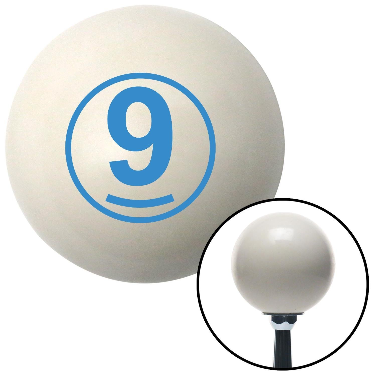 American Shifter 30337 Ivory Shift Knob with 16mm x 1.5 Insert Blue Ball 9