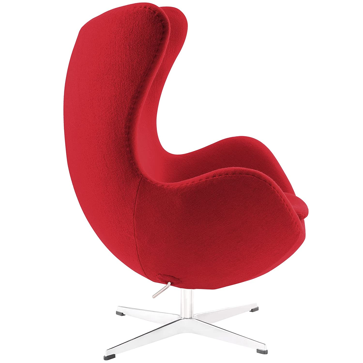 Amazon Modway Glove Wool Lounge Chair in Red Kitchen & Dining
