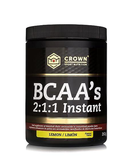 Crown Sport Nutrition BCAA 2:1:1 Instant, aminoácidos ramificados de disolución instantánea