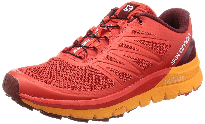 Salomon Sense Pro MAX, Zapatillas de Trail Running para Hombre, Rojo (Fiery Red/Bright Marigold/Syrah 000), 42 2/3 EU: Amazon.es: Zapatos y complementos