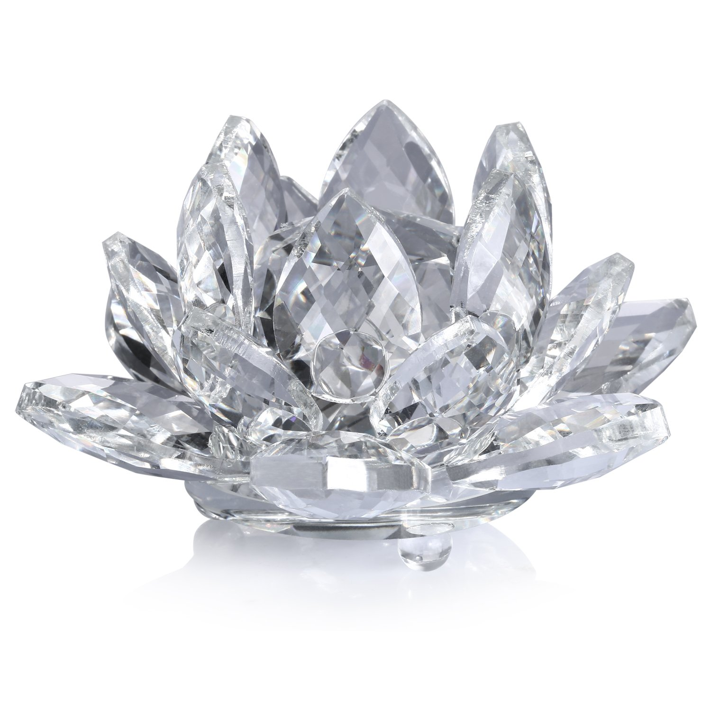 Neewer® 4Plug/10cm Flor De Loto De Cristal Claro Con La Caja De Regalo Para La Decoration De Boda /Hogar / Oficina 99086957