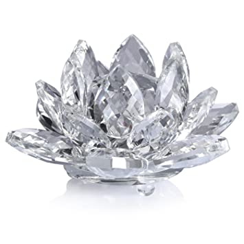 Neewer 4inch10cm Clear Crystal Lotus Flower With Gift Box For