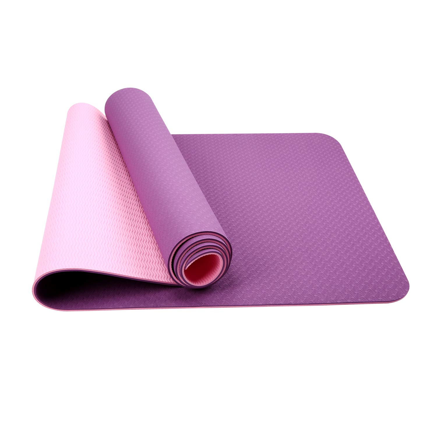 OTW Fit Yoga,Classic Extra Thick 1/4 and Long 72 Premium Eco Safe Yoga Mat, Non Slip Yoga Mats for Home or Travel with Carrying Bag