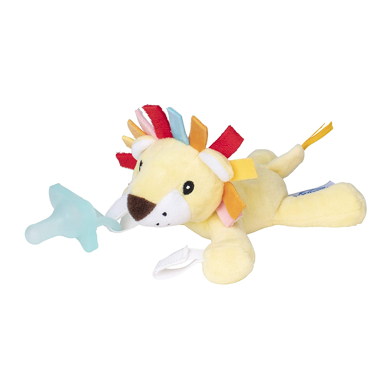 Dr. Browns Lovey Pacifier and Teether Holder, Lion with Teal, 0 Months+