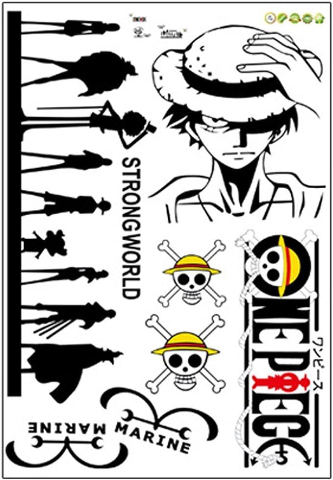 Etiqueta de la pared Carro Tatuaje One Piece Anime Ruffy Lufy ...