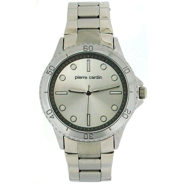 Pierre Cardinシルバーダイヤルメンズ用2トーンシルバーメタルブレスレットドレス腕時計pcg11s B00FMTA0XG