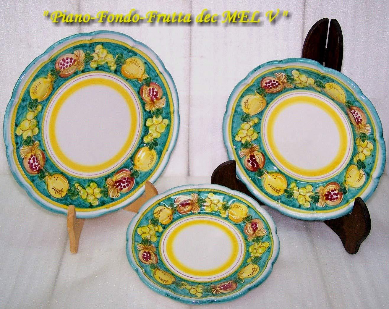 Piatti In Ceramica Prezzi.Servizio Di Piatti Per 6 Persone Ceramica Di Vietri Decoro Melograni Amazon It Handmade