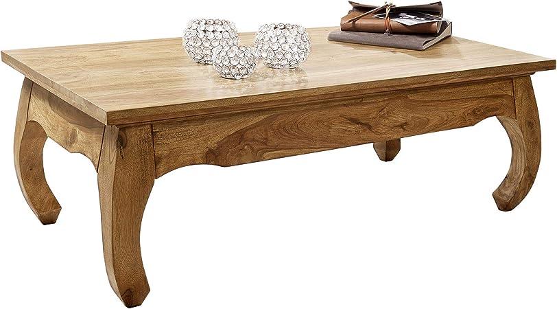 Finebuy Table Basse Bois Massif Acacia Table De Salon 110 X 40 X