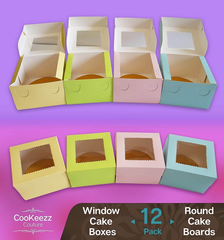 Amazon.com: CooKeezz Couture – Cajas para tartas con ventana ...
