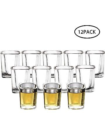 12 pc SHOT GLASS Set Dozen Shot Glasses —Genuine Glass Shotglass Liquor Drinking