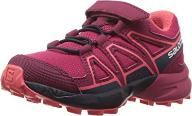Salomon Speedcross Bungee K, Zapatillas de Trail Running Unisex Niños, Rojo/Azul (Cerise/Navy Blazer/Dubarry), 26 EU: Amazon.es: Zapatos y complementos
