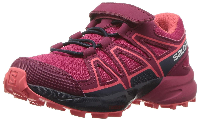 Rouge Bleu SALOMON Speedcross Bungee K, Chaussures de Course sur Sentier Mixte Enfant 30 EU