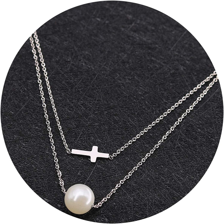 Gnzoe Jewelry-Hypoallergenic Stainless Steel Cross Shape Necklace for Men
