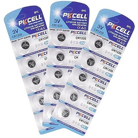 23bb0baeb59950 CR1220 Dl1220 Lm1220 Ecr1220 CR 1220 Piles bouton au lithium 3 V Coin Cell  15 Pièces