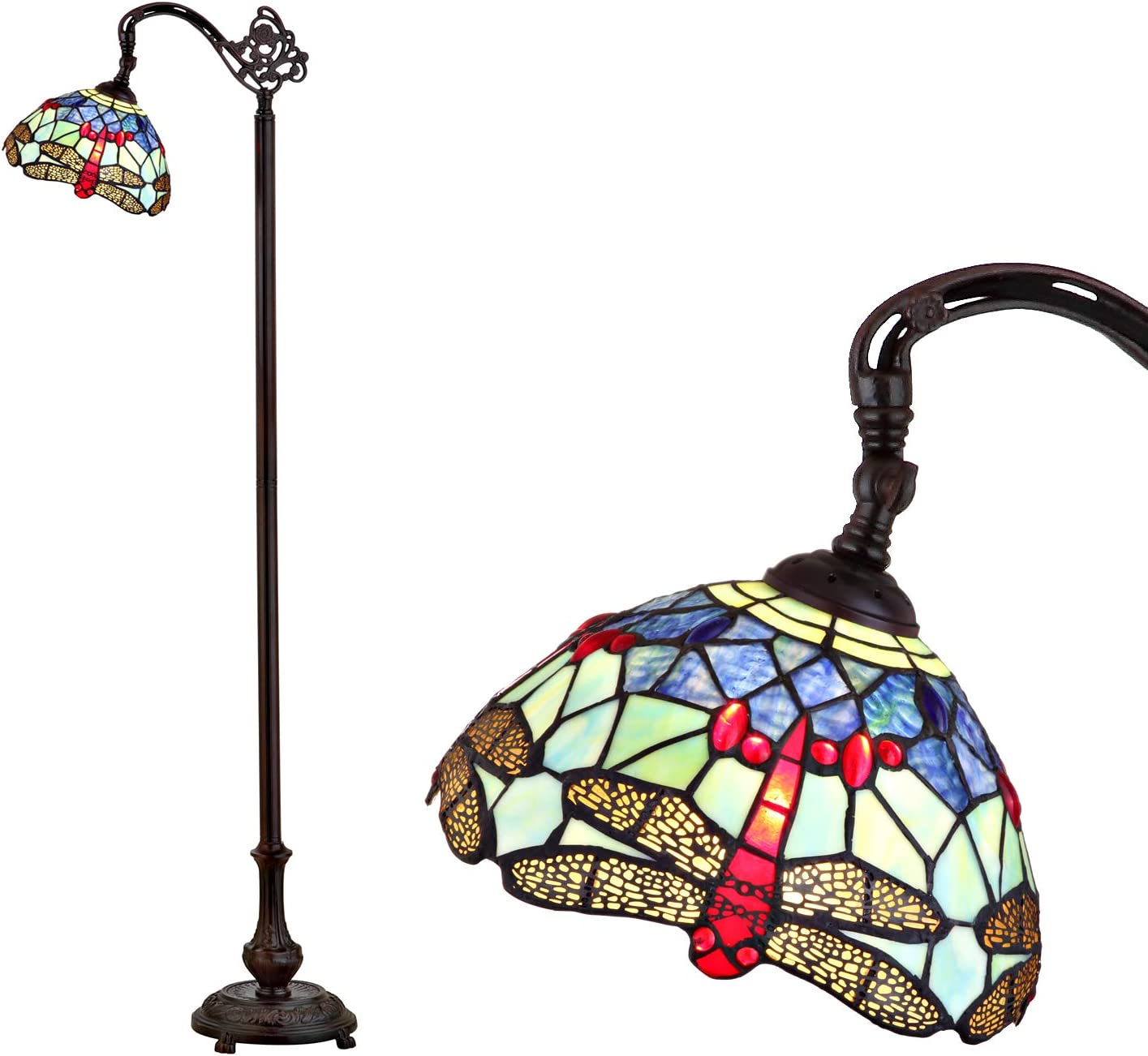 JONATHAN Y JYL8010A Dragonfly Style 60″ Arched LED Floor Lamp