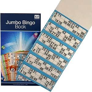Unbranded Jumbo Bingo BTZ/5 - Juego recreativo de Mesa (6 Juegos por página x 80 Hojas): Amazon.es: Juguetes y juegos