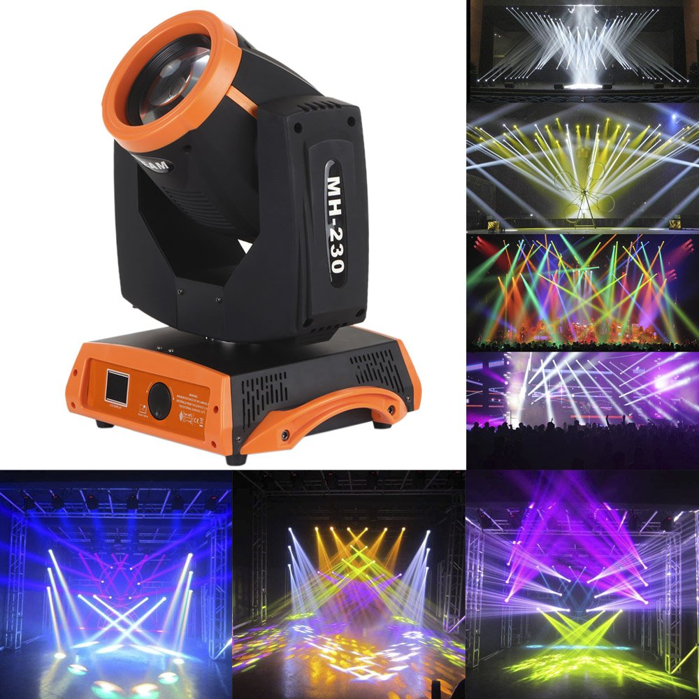 Docooler Moving Head Light Gobo Pattern Prism Rotating Lamp 230W RGBW 16 Channel DMX512 for Disco KTV Club Party