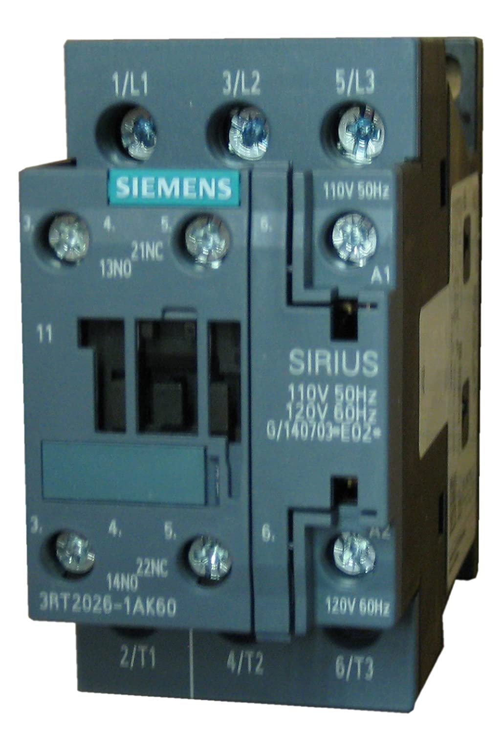 Siemens 3RT2026-1AK60 3 pole, 25 AMP contactor rated 7.5 H.P @ 230v ...