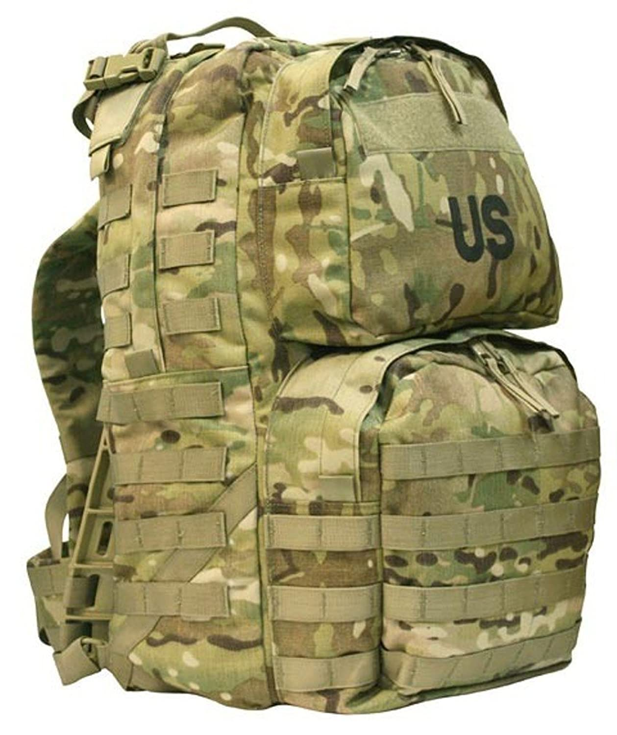 amazoncom molle medium rucksack nsn 8465 01 585 1512 multicam ocp official usgi rfi issue clothing - Military Rucksack With Frame