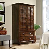 Beau Sauder Harbor View Armoire In Curado Cherry