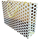 4-Pack Large Premium Quality Gift Bags (4, gold)