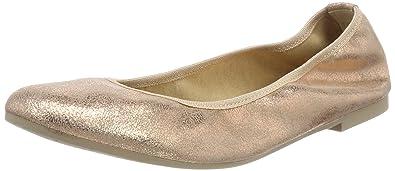 Tamaris Damen 22128 Geschlossene Ballerinas, Schwarz (Black Leather), 36 EU