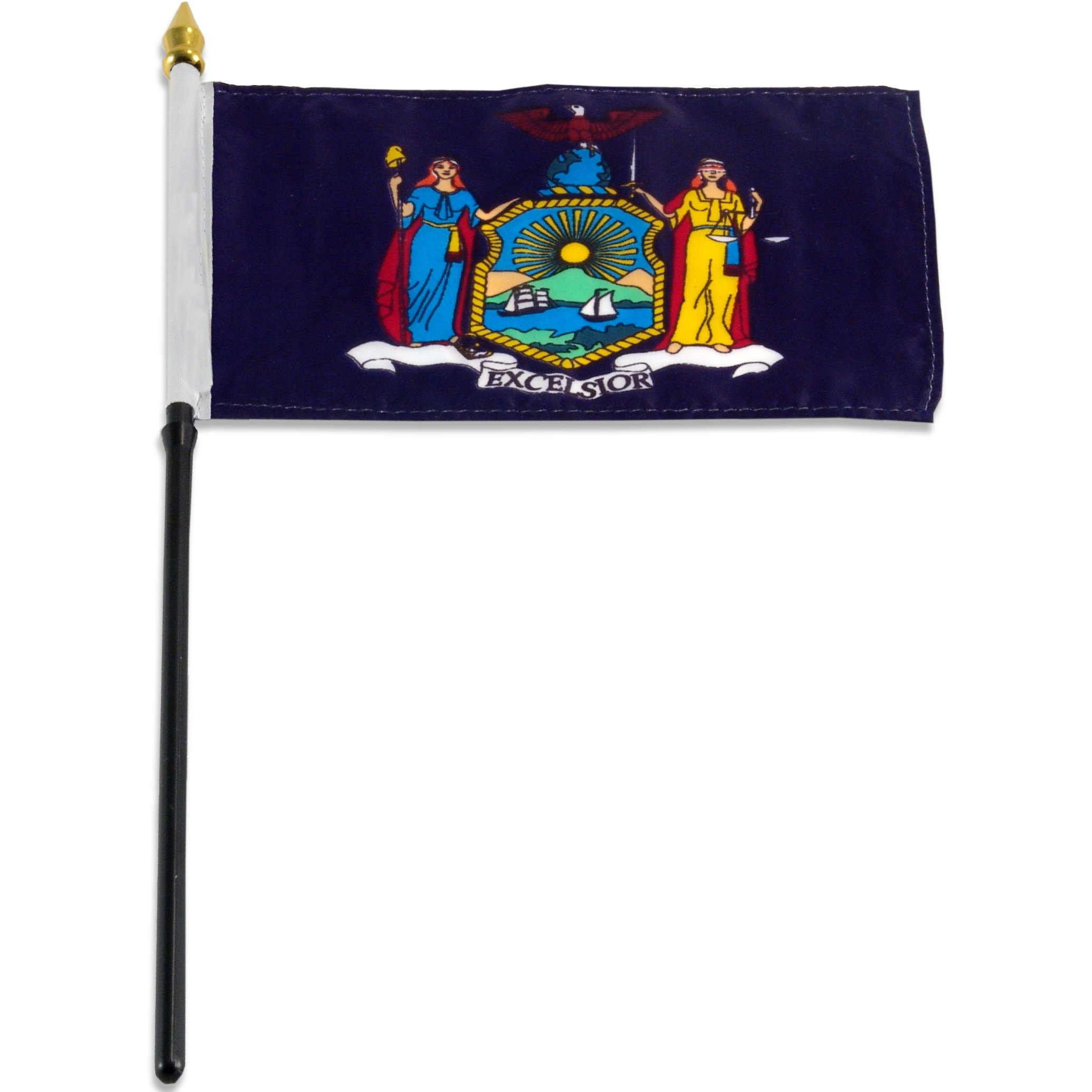US Flag Store New York Flag, 4 by 6-Inch