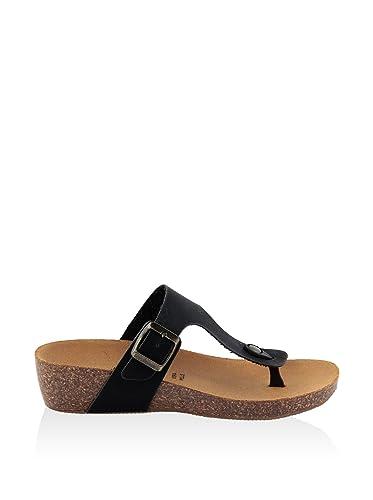 SUMMERY Damen - Sandale - Synthetik - 13_236_Nero