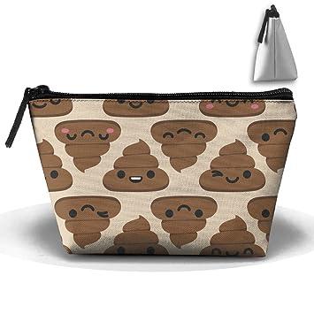 Cute dibujos animados de caca EmojI bolsa bolsas de cosméticos – Bolsa de aseo de viaje