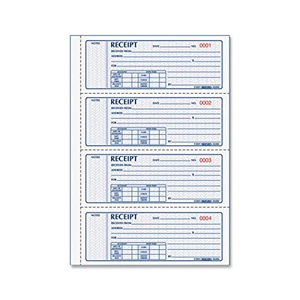image relating to Printable Receipt Book named REDIFORM Income Receipt Publications Black Print Carbonless