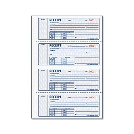 amazon com rediform money receipt books black print carbonless