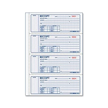 Marvelous REDIFORM Money Receipt Books Black Print Carbonless, Duplicate, 400 Sets  Per Book (8L816 Pertaining To Printable Receipt Book