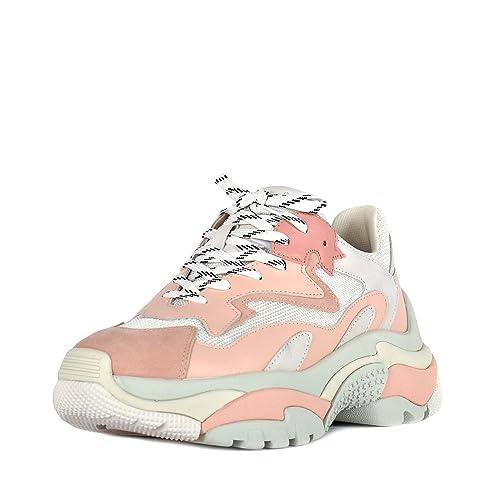 Ash Zapatos Addict Zapatillas Rosa y Blanco Mujer 38 Rosa/Blanco: Amazon.es: Zapatos y complementos