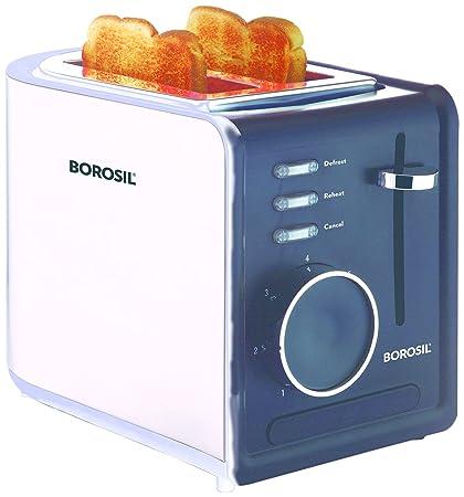 Borosil BTO850WSS21 850-Watt Krispy Pop-up Toaster (Black)