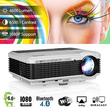Amazon.com: Mini proyector portátil de vídeo para exteriores ...