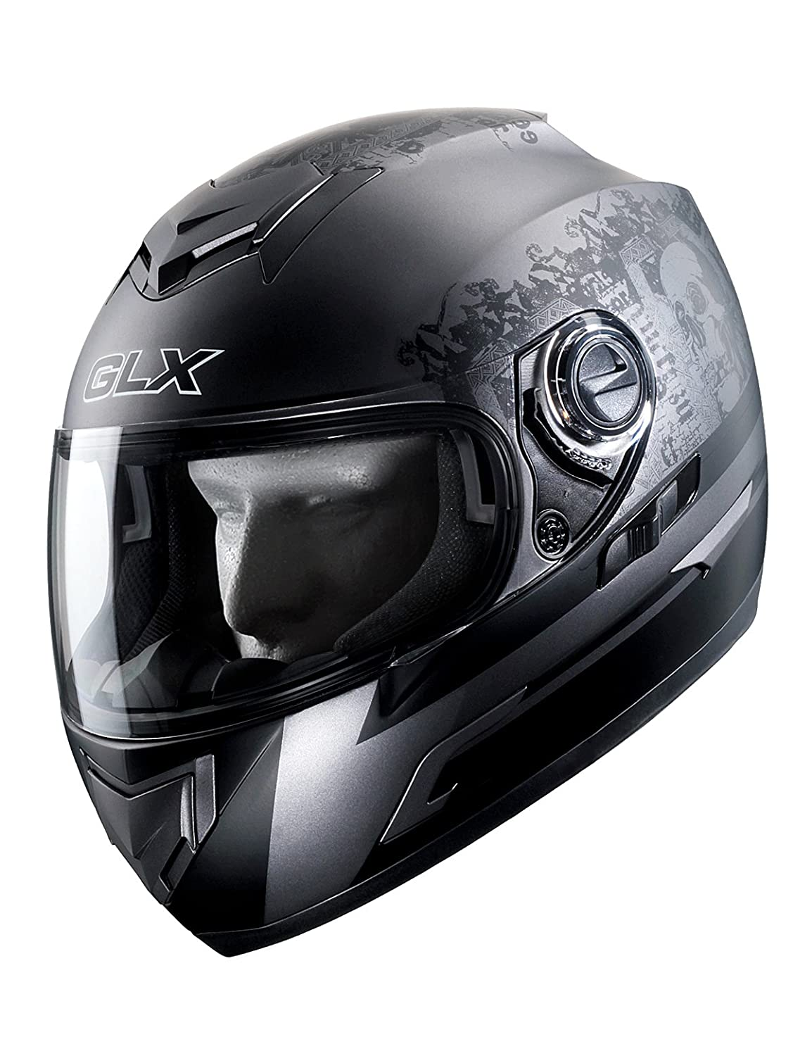 DOT Ghost, Medium GLX GX11-GT-M Lightweight Full Face Street Bike Motorcycle Helmet