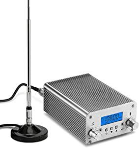 Broadcast Transmitter Radio Station,15W FM Transmitter Broadcasting Systems,Home,Outdoor Theater Bluetooth Transmitter Broadcasting System for Drive-in Service Church,Warehouse,Commercial,College