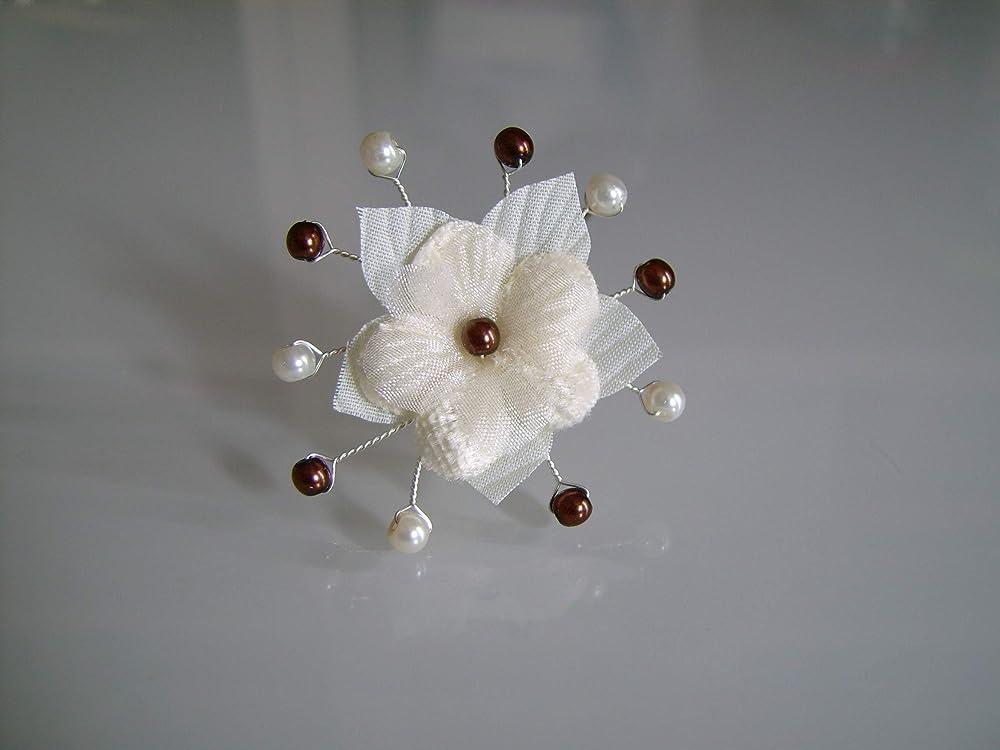 Attache//Remonte Traine//Broche Blanc//Cristal perle p robe Mariée//Mariage pas cher