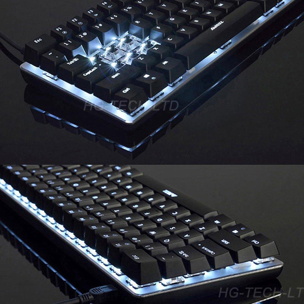 06aa68c16ec ... LexonElec Wired Gaming Keyboard Ajazz AK33 White LED Backlit 82 Keys  USB Mechanical Pro Gamer Keypad ...