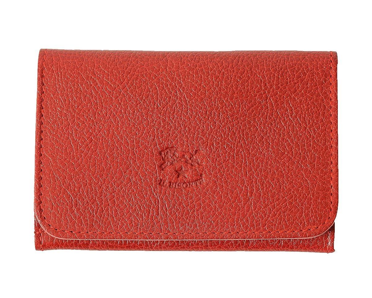 国内正規販売店 (イルビゾンテ) IL BISONTE 2つ折り レザー カードケース411620 ユニセックス B072MC1PTY  red(col.34)