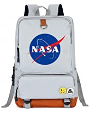 NASA Backpack Schoolbag Shoulder Daypack Casual Daypack Water Resistant Canvas Backpack can accommodate a 14-inches Laptop Computer for Cool Girls Boys Teens Outdoor