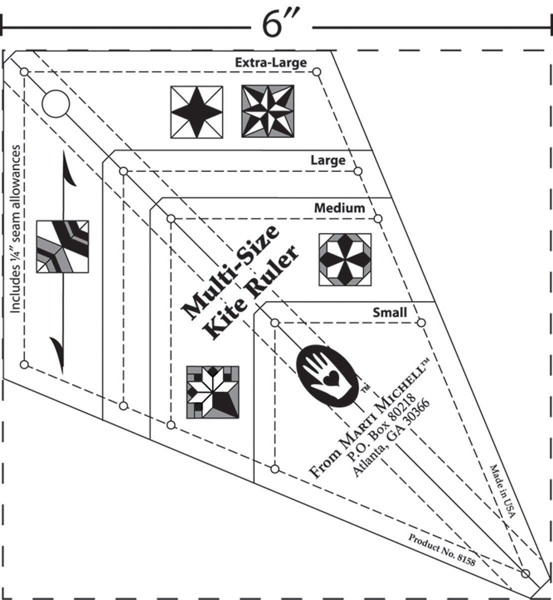 Marti Michell Kite Ruler 8158M