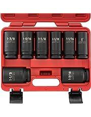 Neiko 02461A 3/4-Inch Deep Impact SAE Sockets, 1-11/2-Inch 8-Piece Cr-V Steel Set