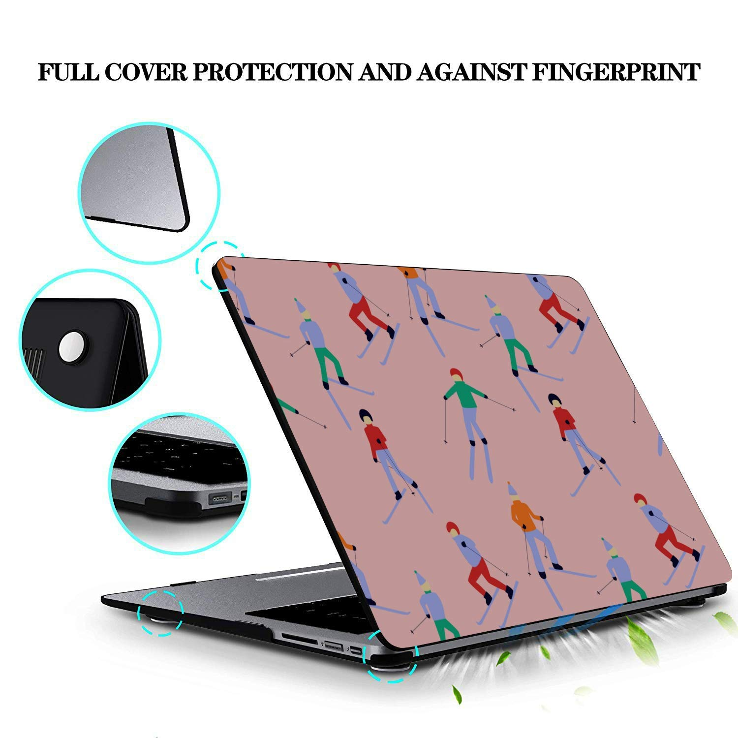 A1534 MacBook Case Skiing Extreme Sports Entertainment Plastic Hard Shell Compatible Mac Air 11 Pro 13 15 MacBook Pro 15 Accessories Protection for MacBook 2016-2019 Version