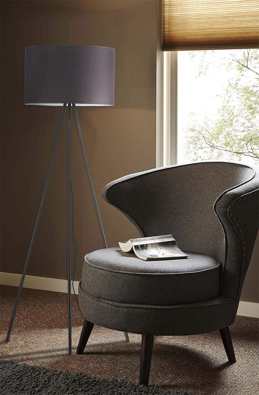 Modernluci Tripod Floor Lamp Modern Bedroom Living Room Light Grey